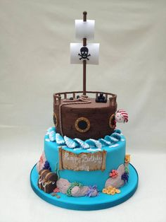 made by Tori...I like the round boat cake. different take on the boat idea