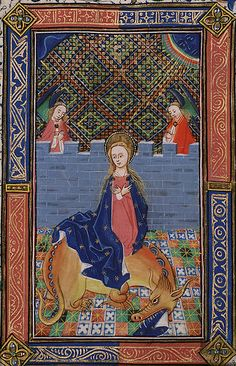 Saint Margaret with dragon