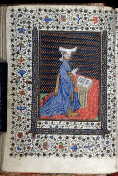 Houpe  Patron miniature- Harley 2952  Book of Hours  France, Central (Paris? or Bourges?); 1st quarter of the 15th century