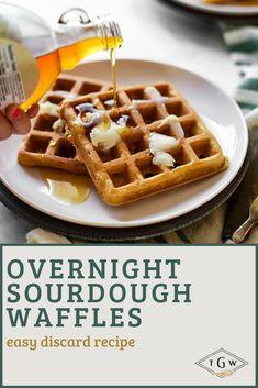 Best Breakfast Recipes, Savory Breakfast, Sweet Breakfast, Perfect Breakfast, Sourdough Recipes, Banana Bread Recipes, Waffle Recipes, Real Food Recipes, Dessert Recipes
