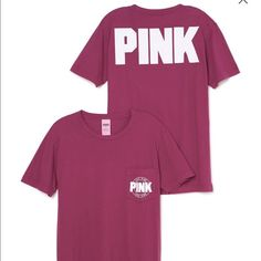 Small PINK Campus Tee A go-to on game day or any day—this tunic-length tee now comes in a heavier, yet soft, cotton. Only by Victoria's Secret PINK.  Super oversized fit Imported cotton PINK Victoria's Secret Tops