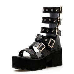 f659413c7387a Gdgydh 2018 Summer Gladiator Sandals Woman Platform Open Toe Female Leather Shoes  Women High Heels Ankle Strap Sandals Promotion