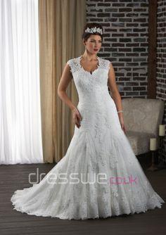 2014 Witching Plus Size Style Halter Neckline Keyhole Back Cap-sleeves Lace Applique Mermaid Wedding Dress