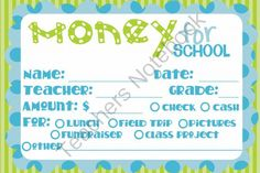 School Money Printable from Simply Sprout on TeachersNotebook.com -  (1 page)