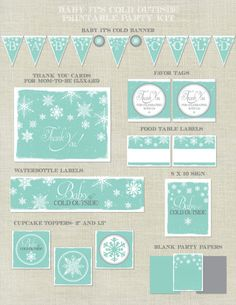 Baby It's Cold Outside Sprinkle Shower by HappyHeartPrinting