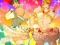 Joseph Joestar Caesar Zeppeli Jojo's Bizarre Adventure... THAT, is fabulous. *A*)b I couldn't help myself but pin this...