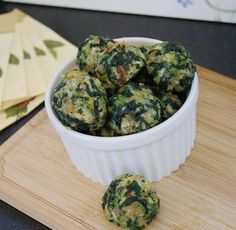 Spinach Stuffing Balls - to make with Ma's stuffing..mmmm.......