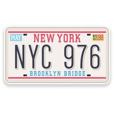 2 X Nyc York Brooklyn Vinyl Sticker Travel Car Luggage Red Bubble Stickers, Cool Stickers, Laptop Stickers, Stickers Printable, Planner Stickers, Accessoires Iphone, Snapchat Stickers, Tumblr Stickers, Aesthetic Stickers