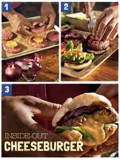 Calling all Grillmeisters! Impress the BBQ crowd this Memorial Day with a tasty twist on the American classic, our Inside-Out Cheeseburger.