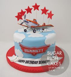 Planes Cake for 8 Disney Planes Cake, Disney Planes Birthday, Disney Cakes, Airplane Birthday Cakes, 2 Birthday Cake, Birthday Parties, 4th Birthday, Dusty Cake, Party Cakes