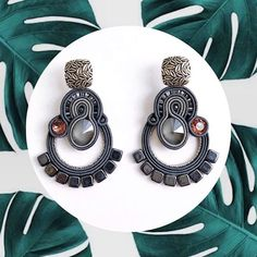 ania_bi_designer Soutache Necklace, Tassel Earrings, Beaded Embroidery, Boho Jewelry, Macrame, Jewerly, Swarovski Crystals, Beads, Soutache Jewelry