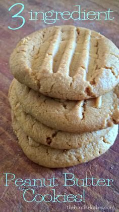 3 ingredient peanut butter cookie recipe