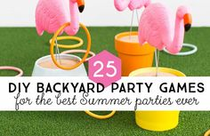 Awesome summer parties need awesome outdoor games and entertainment and we can't wait to show you these amazing DIY backyard party games for the best Summer