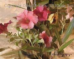 Petunias - Oil by Daniel J. Keys