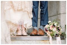 Bride and Groom shoe photo with the bouquet by Brooke Bakken