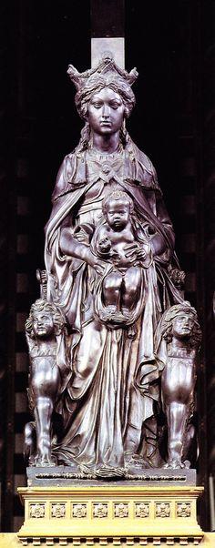 Donatello | Madonna with the Child c. 1448. Bronze, height 160 cm. Basilica di Sant'Antonio, Padua.