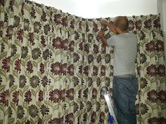 #FinishingTouches on these curtains by Alf Onnie