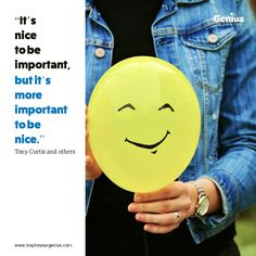 Don't dismiss being nice as soft, fluffy & weak. You can get results by being rotten, but it will come back & bite you on the backside! Being nice ensures you get results and win friends rather than make enemies. Tony Curtis, Enemies, Thoughts, Nice, Friends, Amigos, Nice France, Boyfriends, Ideas