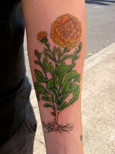Marigold by Chaz Vitale at Skeleton Key Tattoo