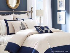 bedroom in a marine style | спальня в морском стиле