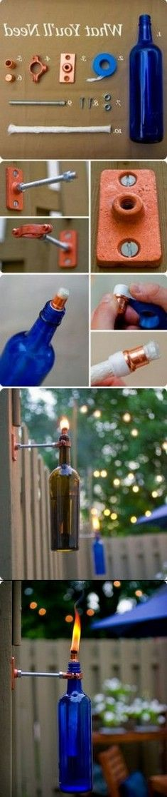 DIY Recycled Wind Bottle Torch