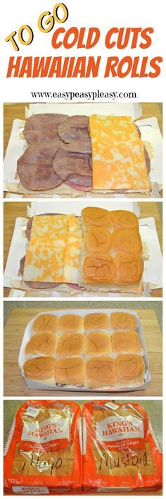 Prepare ahead and take it to go Cold Cut Hawaiian Rolls are the perfect addition to your cooler when hitting the lake, park, tailgating, or road tripping.