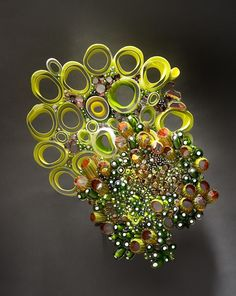 Blown, cut, fused glass (Marsha Blaker-DeSomma)