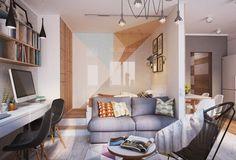 Aménagement et décoration d\'un appartement de 40m2 | Pinterest ...