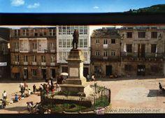 Viveiro. Lugo.  Foto vintage de la Plaza de Pastor Díaz.
