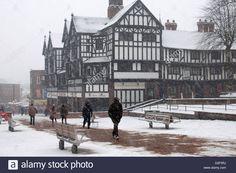 Stock Photo - Trinity Street in snowy weather, Coventry city centre, UK Snowy Weather, Coventry City, Vectors, Centre, Memories, Illustrations, Stock Photos, History, Street