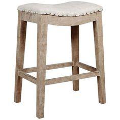 Chantal Backless Ivory Leather Counter Stools W/ Chrome Nailheads (Set Of  2) Great Deal Furniture Http://www.amazon.com/dp/B00J5TAMUU/refu003dcm_sw_r_pu2026