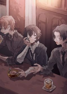 This three has breaking me apart since day 1 Bungou Stray Dogs Wallpaper, Dog Wallpaper, Dazai Bungou Stray Dogs, Stray Dogs Anime, Cat Anime, Manga Anime, Naruto Anime, Anime Guys, Fanarts Anime
