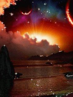 Волшебный закат - анимация на телефон №1097501