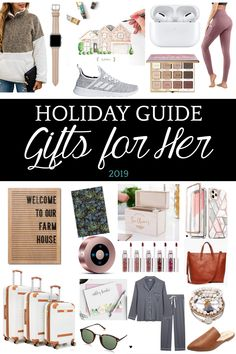 Holiday Gift Guide for Her 2019 | 50 of the best gifts for her for 2019 with researched top-rated favorites in beauty, fashion, tech, self-care, lifestyle, and personalized sentimental gifts. #giftguide