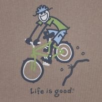 Life is good. LOVE mountain biking - wish they had a girl on the bike instead.  Hint Hint.  #Lifeisgood #Dowhatyoulike