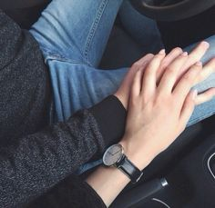 car, couple, cute, hands, love