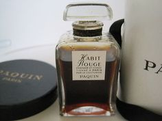 "Perfume Bottle ""Habit Rouge"" BY Paquin Circa 1945 