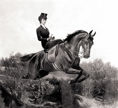 "Sissi could ""outride"" even the best male riders...she had no fear whatsoever and would take huge wide and high jumps..how she did this sidesaddle is beyond belief!!"
