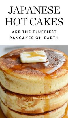JAPANESE HOTCAKES (also called Hottokeki) are the fluffiest Pancakes on earth . # breakfast recipes Japanese Hotcakes Are the Fluffiest Pancakes on Earth (and You Can Make Them) Breakfast Desayunos, Breakfast Dishes, Perfect Breakfast, Blueberry Breakfast, Blueberry Pancakes, Breakfast Cooking, Souffle Pancakes, Oat Pancakes, Yummy Breakfast Ideas