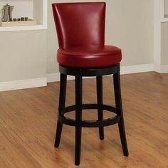 Elegant Swivel Leather Barstool