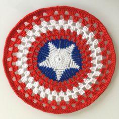 Free amigurumi pattern Captain America snuggle designed by Dendennis