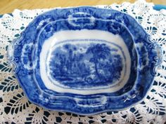 Hey, I found this really awesome Etsy listing at https://www.etsy.com/listing/181907162/1800s-flow-blue-serving-bowl-rare-very