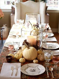 A special Thanksgiving table.