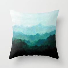 Mists No. 2 Throw Pillow by Prelude Posters - Cover x with pillow insert - Indoor Pillow Throw Cushions, Couch Pillows, Designer Throw Pillows, Down Pillows, Floor Pillows, Accent Pillows, Pillow Inserts, Pillow Covers, Pillow Design