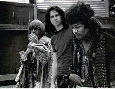 Brian Jones, Jim Morrison & Jimi Hendrix (3 members of the 27 club)