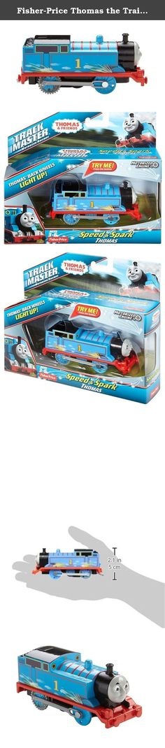 Fisher-Price Thomas the Train TrackMaster Speed & Spark Thomas Set. Sometimes when trains travel at high speeds, they create sparks as they race along the rails. Now, speed & spark Thomas brings that thrilling effect to the world of TrackMaster. Press the button on top of this motorized toy train to send him speeding forward, and watch as his back wheels light up with a cool flickering effect, like they're really sparking! featuring unique designs on the side of his cab and exciting...