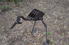 'Buster the Curlew' Sue Tilley 2013. Found Metal objects. Created for the Centenary Celebrations for Picnic Bay School, Magnetic Island, Qld