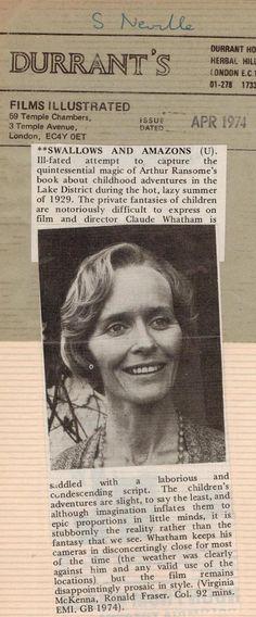 Virginia McKenna featuring in 'Films Illustrated' ~ April 1974