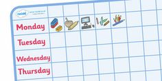 Editable Visual Timetable Cards  Sen Visual Timetable Editable