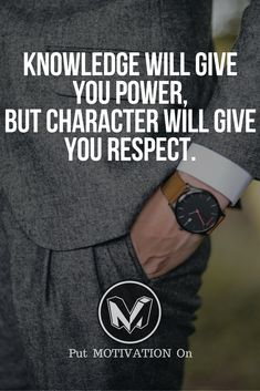 Knowledge and character will build a great you. Follow all our motivational and inspirational quotes.Follow the link to Get our Motivational and Inspirational #Inspirational. Thy acknowsledge tjs is Dàve Beckmann